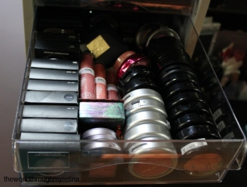 Blush storage + makeup storage