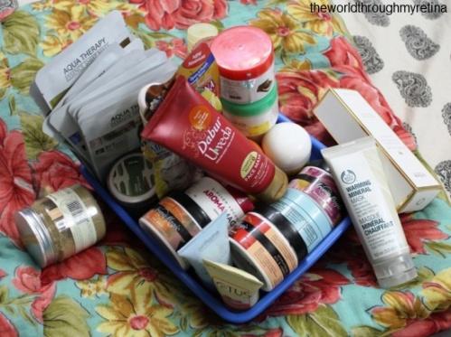 Face packs vanity + makeup storage