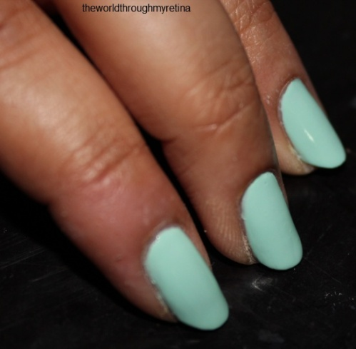 GOSH nail polish+ miss minty review