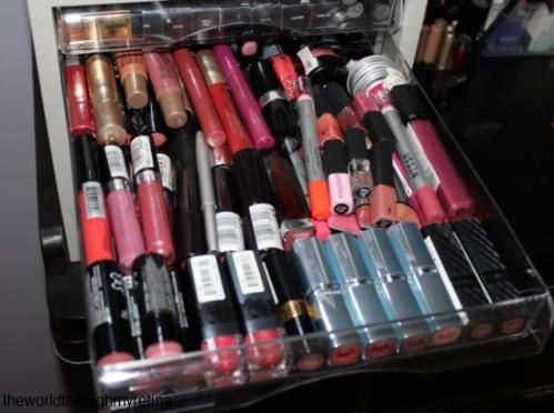 lipstick storage + acrylic drawer set + makeup storage