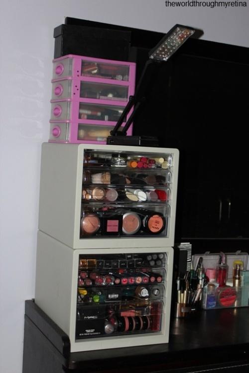 makeup tower + makeup storage