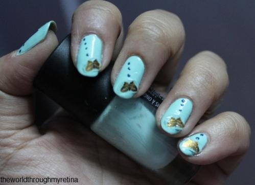 nail art + gosh miss minty