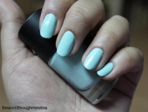 nail polish + gosh + miss minty