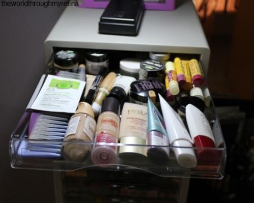 skincare storage + acrylic drawer set