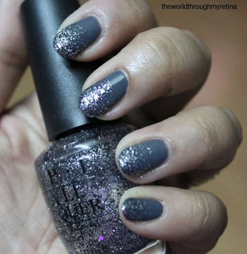 beyu grey nail polish + gradient nail art