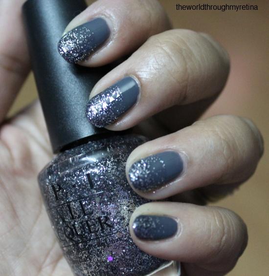 beyu grey nail polish + gradient nail art