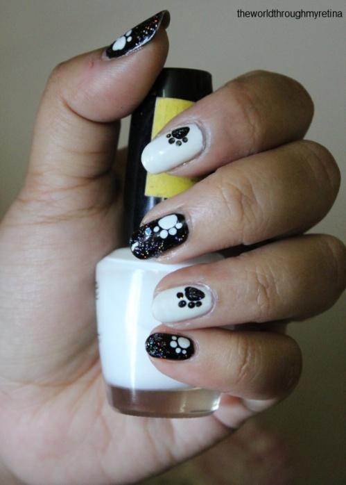 my nail art + paws nail art
