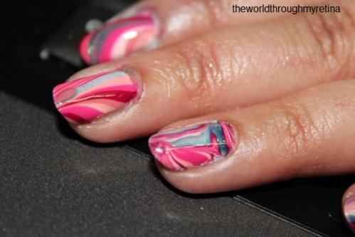nail art water marbling